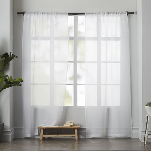 light filtering through curtain